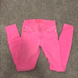 Rock and Republic Pink Jean Legging size 2